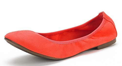 DREAM PAIRS Women's Latte Coral Comfort Ballet Flats Shoes Size 5.5 B(M) US