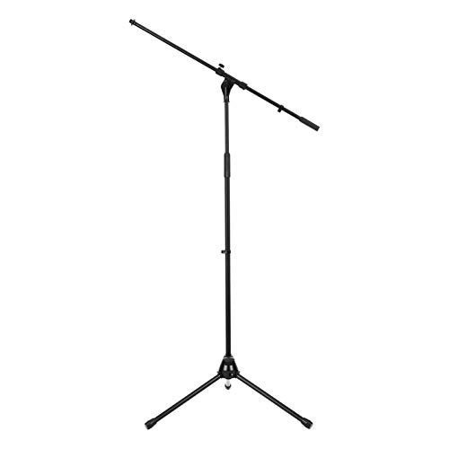 Amazon Basics Tripod Boom Microphone Stand - Height-Adjustable with Metal Base - 3.3 - 5.6-Foot