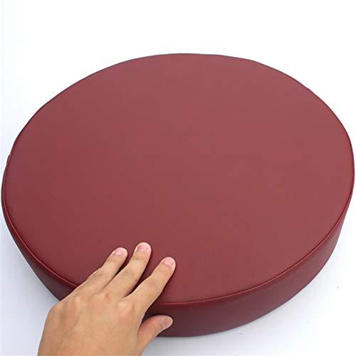 GGYDD Puf redondo grande para el suelo, cojín de esponja gruesa, cojín de asiento de cuero impermeable, cojín de banco transpirable, cojín de ventana de bahía - C Diámetro: 40 cm