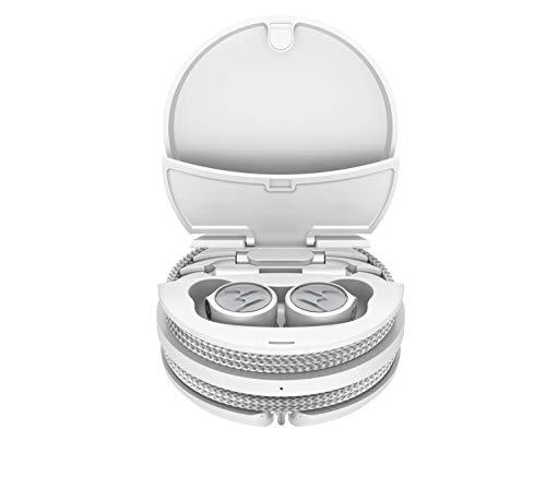 Motorola Earphones Tech 3 - Auriculares 3 en 1 - Inalámbricos - Sportloop - con Cable - 18 Horas de reproducción - IPX5 - Blanco