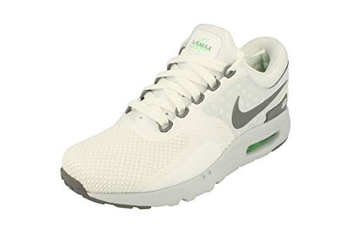 Nike Air MAX Zero Essential Hombre Running Trainers 876070 Sneakers Zapatos (UK 6.5 US 7.5 EU 40.5, White Cool Grey Pure Platinum 102)