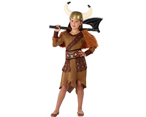 Atosa-61486 kostuum dames Viking 3-4, meisjes, 61486, bruin, van 3 tot 4 jaar