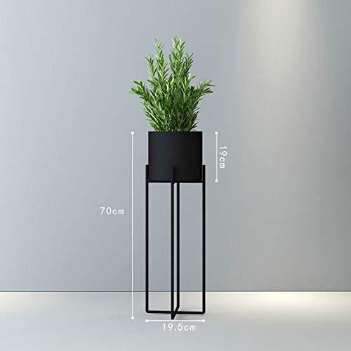 BR Support pour fleurs Balcon Salon-à-plancher Nordic Iron Cross Moderne Minimaliste Flowerpot Green Flower Rack (Couleur : NOIR, taille : M)