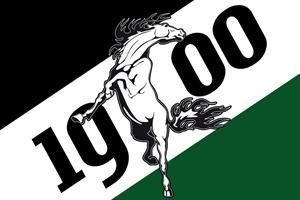 Gladbach 1900 mit Pferd Fussball Fahne Flagge Grösse 1,50x0,90m