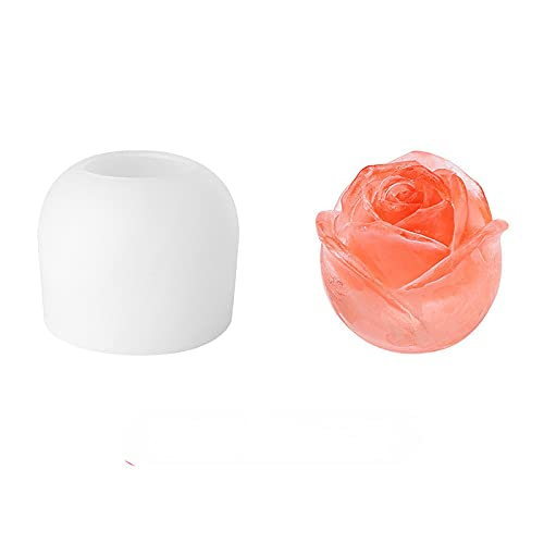 3d Ice Cube Maker Rose Shape Ice Cream Mold Diy Tool Whiskey Wine Cocktail Ice Cube Silicone Mold Bar Tools
