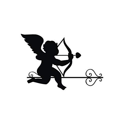 cooldeerydm leuke engel met muurstickers, pijl voor kinderkamer, leuke decoratie, grappige wandlamp, vinyl, babywand, YY067