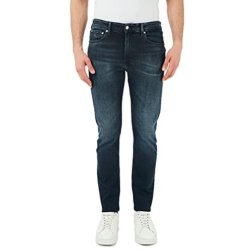 Calvin Klein Jeans Slim Taper Jeans, Denim Scuro, 34W / 34L Uomo