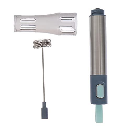 BESTonZON Elektrische Melkopschuimer Rvs Melkschuimer Roestvrij Handheld Schuim Maker Mini Garde Drink Mixer…