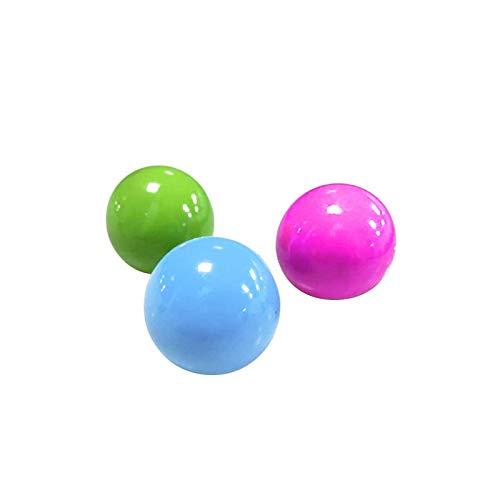 3pc Stress Relief Ball für Kinder Erwachsene, Fluoreszierende klebrige Wandball klebrige Zielball Dekompression Spielzeug Kinder Weihnachten Geburtstagsgeschenk