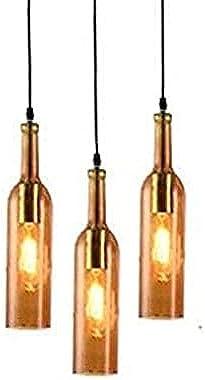 PR Star Laster 3 Light Bottle Black Fitting Ceiling Lamp Chandelier Hanging for Bedroom, Living Room, Restaurant Pendants Cei