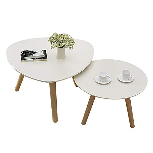 ZWJLIZI Coffee Table, Nordic Solid Wood and Leg Combination Living Room Tea Table, Bedroom Leisure Table/Study Table (Color : C)