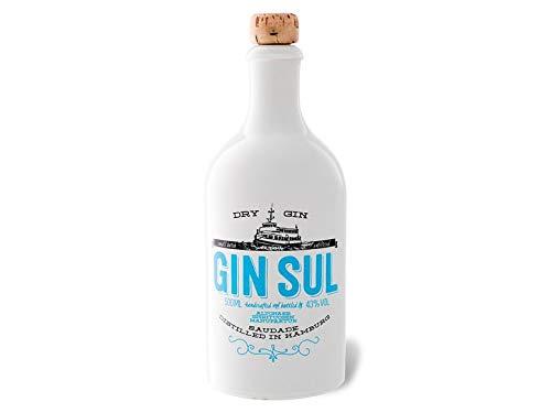 Gin Sul in einer edlen Holzbox/Geschenkbox – 1x Gin Sul und 1x Holzbox, destilliert und abgefüllt in Hamburg, Perfekt als Geschenk, Geschenkbox
