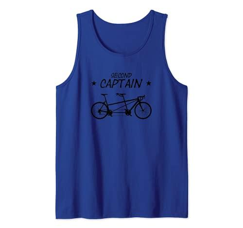 Bicicleta tándem Second Captain Bicicleta para dos personas Camiseta sin Mangas