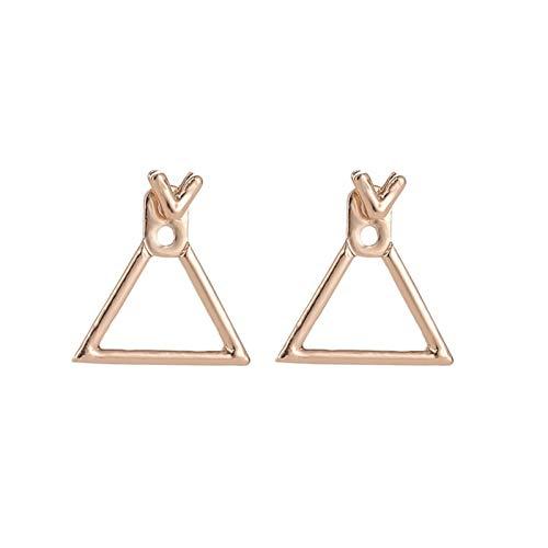 Pendientes de mujer Pendientes de joyería de gota Pendientes cuadrados de Stud ^2233 (Metal Color : A046 San Gold)