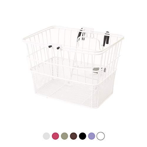 For Sale! Retrospec Detachable Steel Half-Mesh Apollo Lift-Off Bike Basket with Handles, Brown