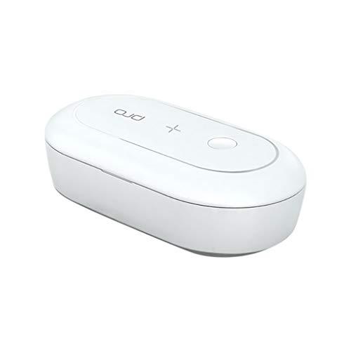 Ladegerät Drahtloses Ladegerät 10W kabelloses Ladegerät Handy Smart QI Schnellladung ist Geeignet für das kabellose Laden von geeignet + Sterilisationsbox Mit Aromatherapie-Sterilisationsbox