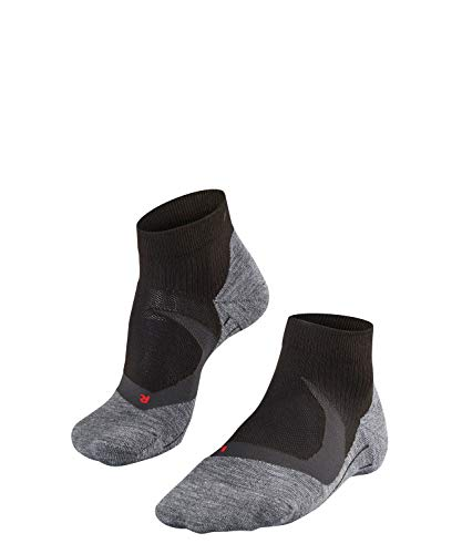 Falke Herren Laufsocken RU4 Cool Short Funktionsfaser, 1 er Pack, Schwarz (Black-Mix 3010), 44-45