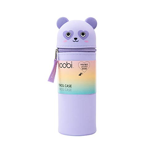 Yoobi  Pencil Case Storage Pouch for Kids  Silicone Panda Standing Shape for Easy Supply Access  PVC Free