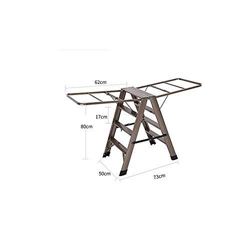 HIZLJJ Tendedero de lavandería adecuados portátil escalera telescópica de múltiples funciones escalera Tendedero for bañera, plegable, de acero, ropa portátil Tendedero con alas de gaviota for plana d