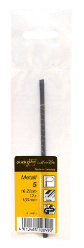 Augusta–Lame di ricambio per archetto da traforo, 12pezzi, 130mm, per metallo No. 5media, 08805AMA