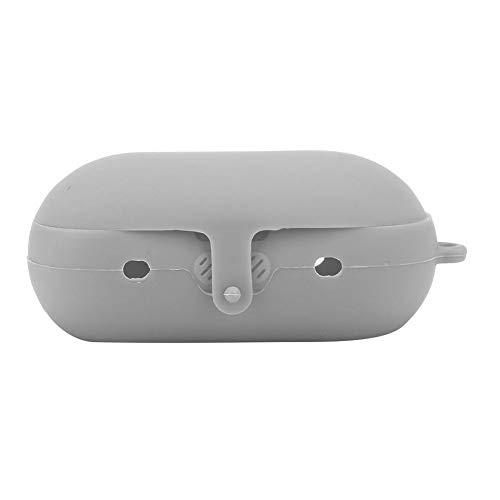 AMONIDA Funda Protectora inalámbrica Bluetooth para Auriculares Funda de Silicona para Samsung Gear Iconx Elegante y Simple Proteja Sus Auriculares contra Golpes (Negro)(Gris)