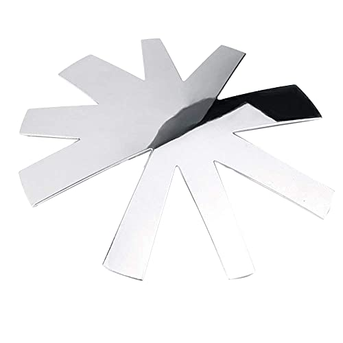 SODIAL Coupe Ongle les Conseils en Acrylique Taille-Bordures Manucure 9 Taille Forme en V Francais Facile Coupe de Sourire V Ligne Argent (1 PièCe SéRie Forme Alond)