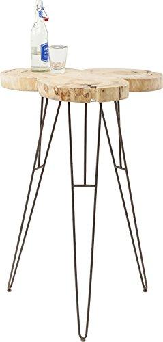 Kare Design statafel Wild Nature, ronde tafel, bistrotafel, bartafel, barmeubilair, partytafel, hout, (H/B/D) 106 x 72 x 72 cm, andere, bruin