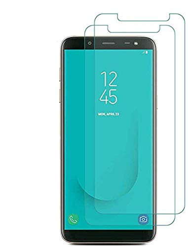 Vada-Tec 3X Bruchsicheres Panzerglas für Samsung Galaxy A8 2018 Panzerglasfolie Schutzfolie aus 9H Echt Glas Transparent