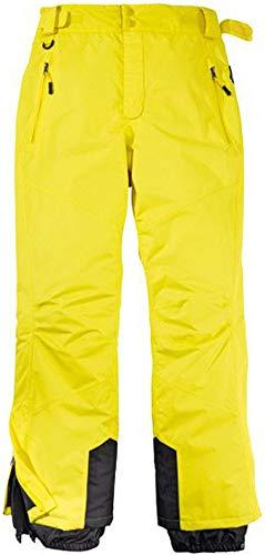 Byrak Herren Skihose Schneehose Snowboardhose Winterhose Funktional (50, Gelb)