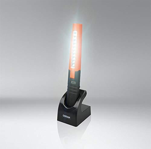 LEDinspect Slimline 280 LED Klappbare Werkstattlampe Osram, Schwarz