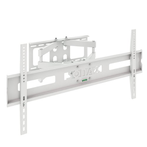 Sonax Full Motion Flat Panel Wall Mount Stand for 37-Inch to 70-Inch TV, White