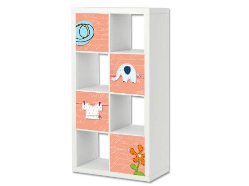 Stikkipix Petit Cascarillo para muebles | ER07 | Adhesivos adecuados para el estante EXPEDIT/KALLAX de IKEA (mueble no incluido)