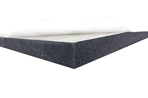 Dibapur ® Akustikpur glatt • 100x50x5 cm • SELBSTKLEBEND • Raum Akustik Schaumstoff Dämmung Schallschutz