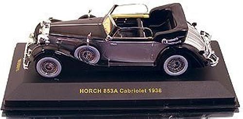 Auto Modelle IXO Horch 853A Cabrio1938,Schwarzsilber 1 43