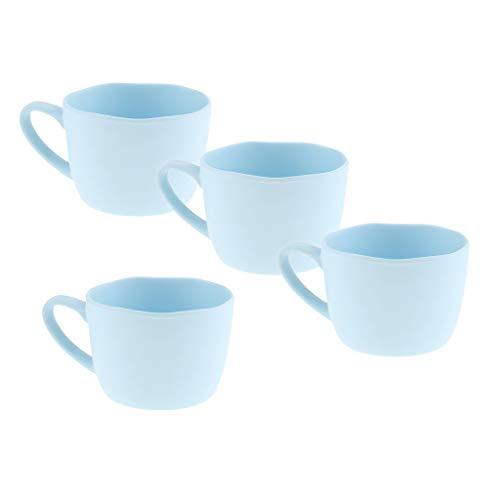 4 PCS Tazzine da caffè per Bevande Fredde e Calde Facile da Pulire per Uso Decorativo o Pratico per Servire Bevande - Azzurro