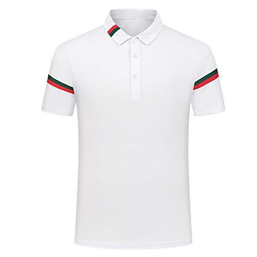Camiseta de verano de manga corta para hombre. Blanco M