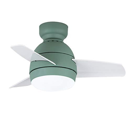 YULAN Plafondventilator, kleine ventilator, licht voor de kinderkamer, eenvoudige moderne restaurantruimtedeken, Nordic ventilator, ultradun plafond