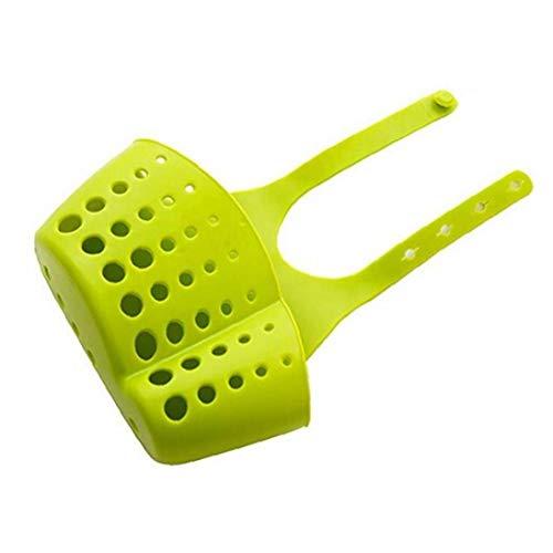 TOSSPER Cocina Cesta Colgante Tap Plástico Colador Organizador para Fregaderos De Accesorios De Almacenamiento Tendedero