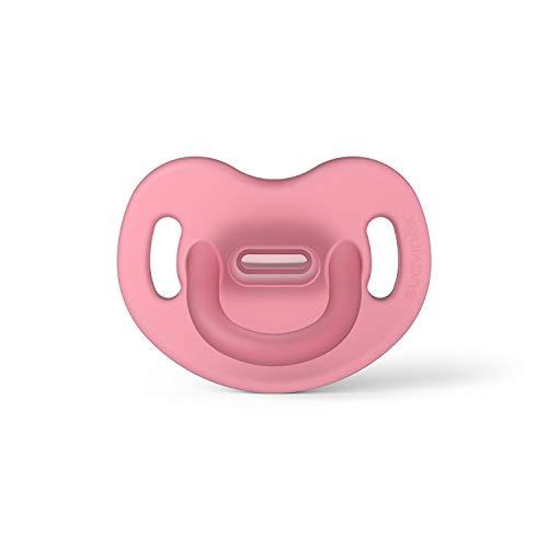 Suavinex Chupete para Dormir Todo Silicona, Para Bebés 6/18 meses, Chupete con Tetina Anatómica SX Pro, Super Blandito y Flexible, Color Rosa (307254)