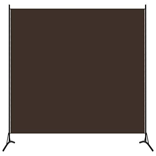 Lechnical 1-TLG. Raumteiler Sichtschutz Trennwand blickdichter Raumtrenner Paravent spanische Wand Braun 175 x 180 cm