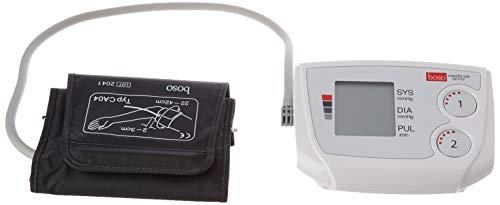 boso medicus family – Partner-Blutdruckmessgerät mit 2 Speicher-Plätzen, großem Display und Arrhythmie-Erkennung – Inkl. Universal-Manschette (22–42cm)