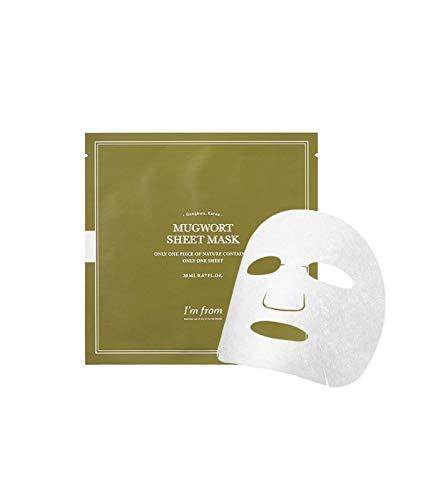 I'm From Mugwort Sheet Mask, 91.45% pure Mugwort extract, Calming, 10 masks