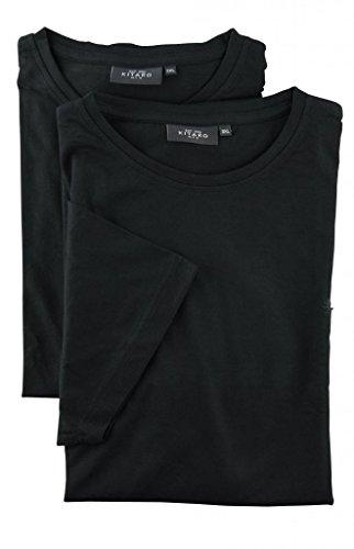 Kitaro Lot de Deux T-Shirts Noir Manches Courtes Col Rond