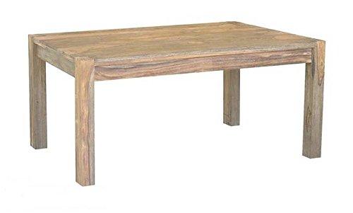 MASSIVMOEBEL24.DE Palisander Holz massiv Esstisch 180x90 Sheesham Massivmöbel Nature Grey #505