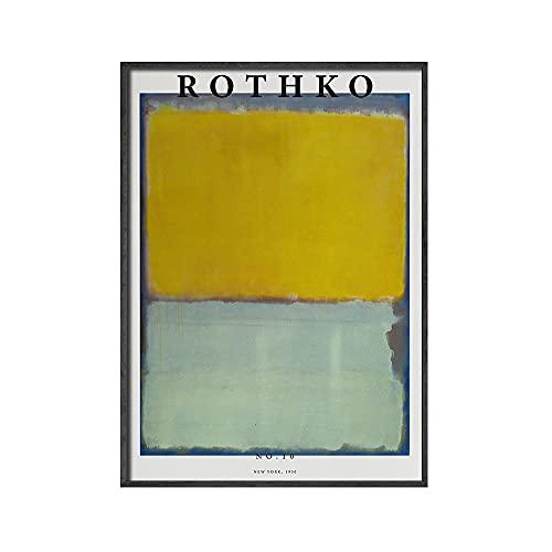 WJWGP Mark Rothko Pintura Abstracto Color Gama Estilo Poster GaleríAs Pared Arte Cuadros Rojo Verde Azul Arte Impresiones Colorido De La Lona Arte Pintura Porche DecoracióN