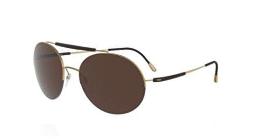 Silhouette Adventurer 8659 20 6201 Gold Black/Brown Polarized Sunglasses