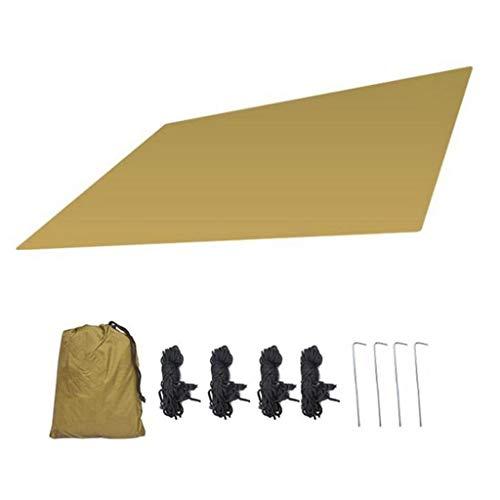 W.Z.H.H.H Schattensegel Wasserdicht Sun Shelter Außensonnenschutz-Tuch-Sonnensegel Sonnendach Abdeckung Einfache Vier-Ecke Canopy Sonnenschutztuch. (Color : Gelb, Size : 180x145cm)
