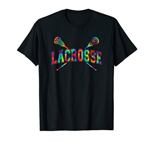 Lacrosse Tie-dye Crossed Sticks Cool LAX Gear Boys or Girls T-Shirt
