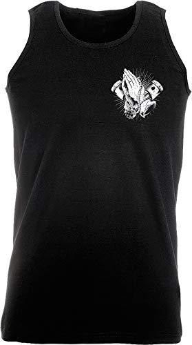 Camiseta sin Mangas: Biker Pray - Regalo Motero-s - T-Shirt Hombre-s - Bike - Chopper - Moto - Mecánico - Motocross - Tank-Top - Chalecos de Athletic - Vest - Gym Fitness Body-Building - Muscle