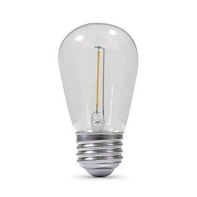Light Bulb, MagicPro LED Light Replacement Bulbs for Solar S14 String Light Warm White, Light Bulb Only (9)